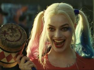 Margot Robbie as Harley Quinn.