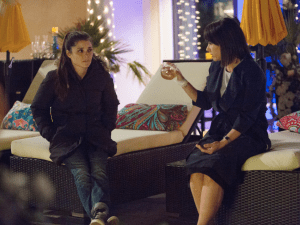 Shiri Appleby and Constance Zimmer in UnREAL.