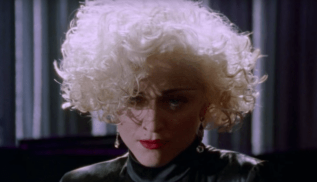 Madonna as Breathless Mahoney in Dick Tracy.