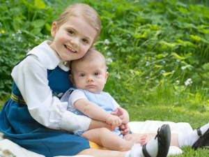 Princess Estelle is a small fashion icon.