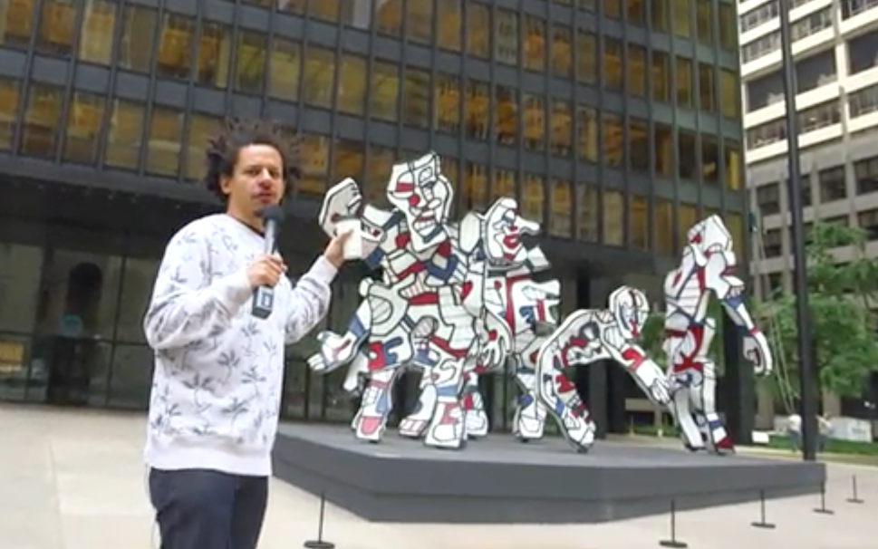 Eric André Is All of Us Trying to Make Sense of Public Art