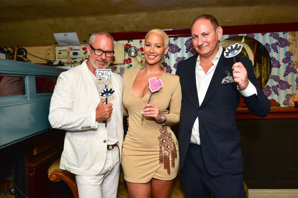 Donald Robertson Celebrates Amber Rose as the Face of Flirt Cosmetics