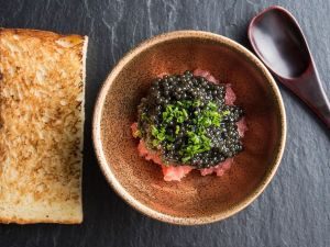 Shuko's caviar-covered tuna is what dreams are made of.