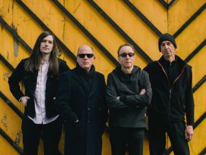 Colin Newman (second from left) with the current incarnation of Wire.