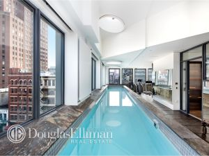 A 50-foot indoor swimming pool is a true necessity.