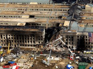 Aerial view of the Pentagon, September 14, 2001.