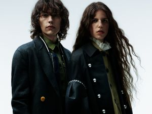 A look from the Burberry x Barneys lookbook