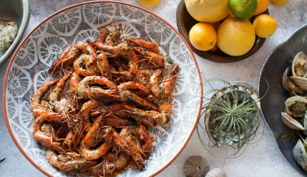 Cassia's Vietnamese sunbathing prawns bring the fire in Santa Monica.