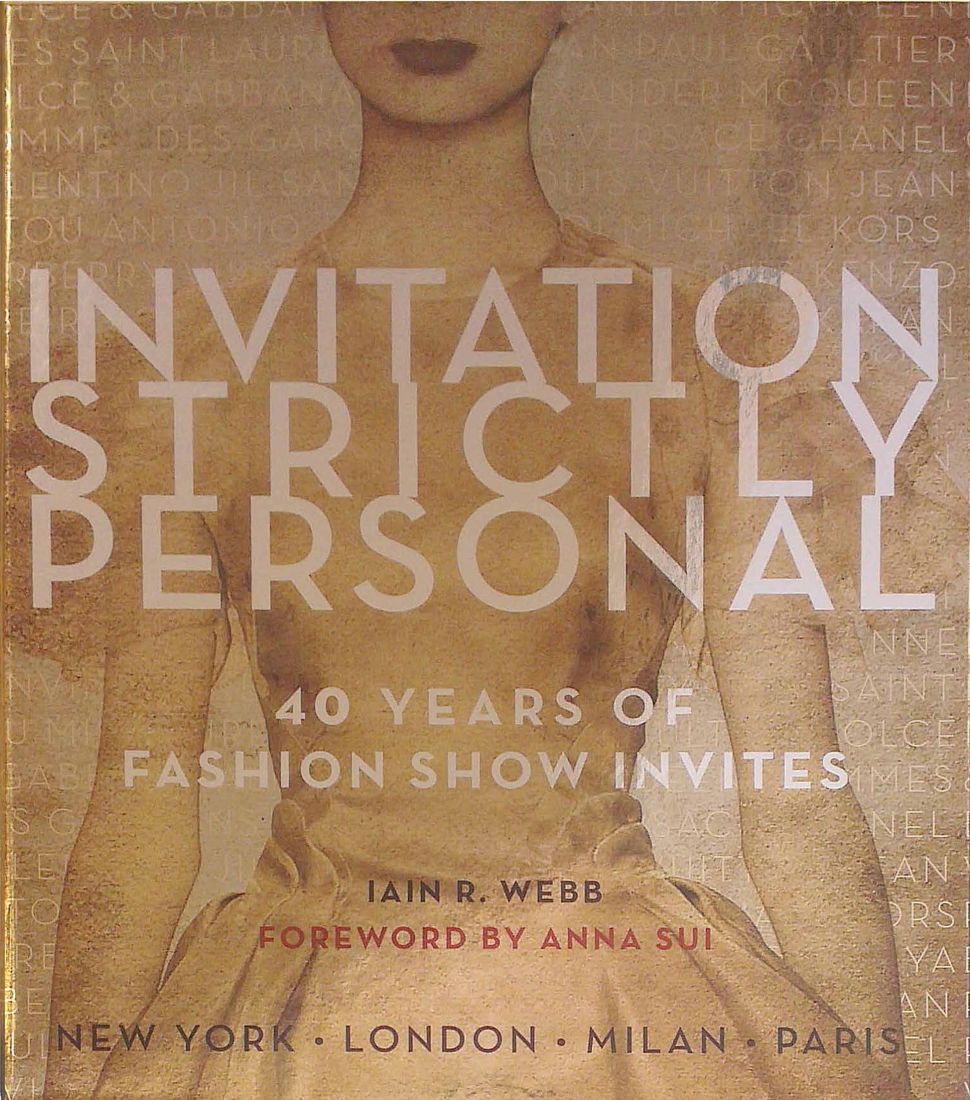 This Book of Invitations Will Cure Your NYFW FOMO