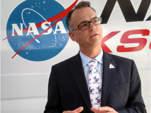 Dr. Dante Lauretta at NASA Kennedy Space Center