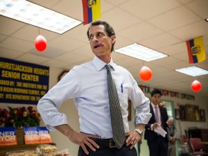 Ex-New York City mayoral candidate and former Congressman Anthony Weiner.