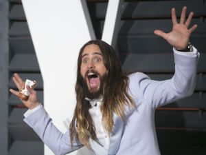 Jared Leto arrives to the 2015 Vanity Fair Oscar Party February 22, 2015 in Beverly Hills, California.
