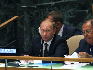 Russian President Vladimir Putin at the 2015 UN General Assembly
