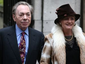 Andrew Lloyd Webber and Madeleine Gurdon just hanging out at Rupert Murdoch's wedding to Jerry Hall.