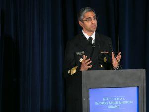 Surgeon General of the United States Dr. Vivek Murthy speaks on the epidemic of prescription drug addition in Atlanta, Georgia.