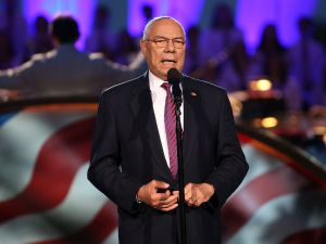 Former Gen. Colin Powell (Ret.) onstage at A Capitol Fourth concert at the U.S. Capitol, West Lawn, on July 4, 2016 in Washington, DC.