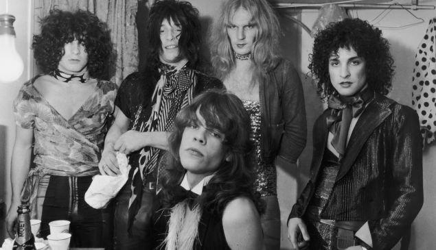 David Johannsen with The New York Dolls.