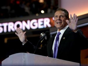 Gov. Andrew Cuomo delivers remarks on the fourth day of the Democratic National Convention in Philadelphia in July.