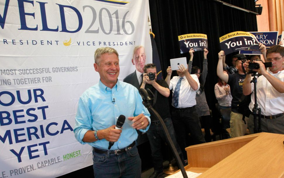 Gary Johnson and Bill Weld Hit Manhattan After Snagging Independence Party Line