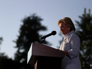 Democratic presidential nominee Hillary Clintons.