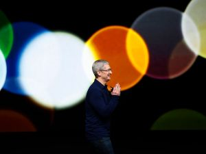 Apple CEO Tim Cook on September 7, 2016 in San Francisco, California.