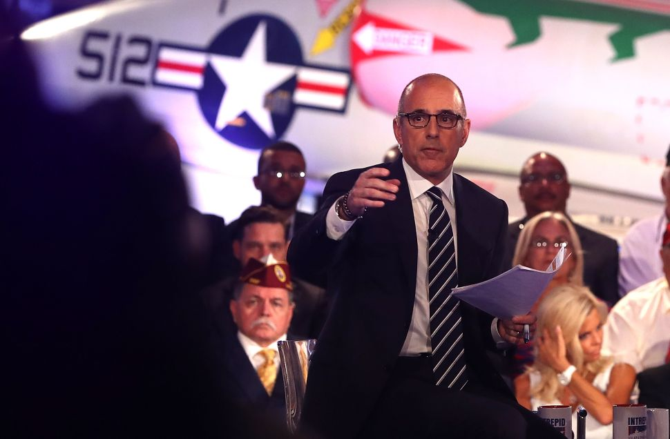 And the Biggest Loser of Wednesday's Candidate Forum Was…Matt Lauer?
