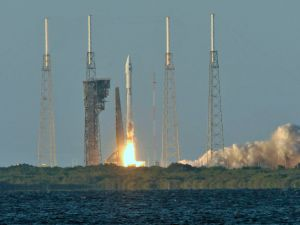 The United Launch Alliance Atlas V rocket carrying NASA's Origins, Spectral Interpretation, Resource Identification, Security-Regolith Explorer (OSIRIS-REx) spacecraft lifts off on from Space Launch Complex 41 on September 8, 2016 at Cape Canaveral Air Force Station