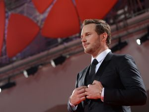 Actor Chris Pratt attends the Premiere of the movie The Magnificent Seven following the ceremony awards at the 73rd Venice Film Festival.