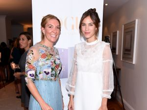 British Consul General, New York Antonia Romeo and Alexa Chung,