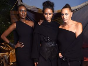 Donna Karan with a few of her Urban Zen models