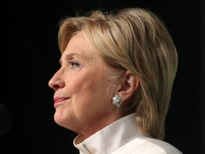 US Presidential nominee Hillary Clinton speaks at the Congressional Black Caucus Annual Phoenix Awards Dinner, at the Washington Convention Center, Spetember 17, 2016 in Washington, DC.