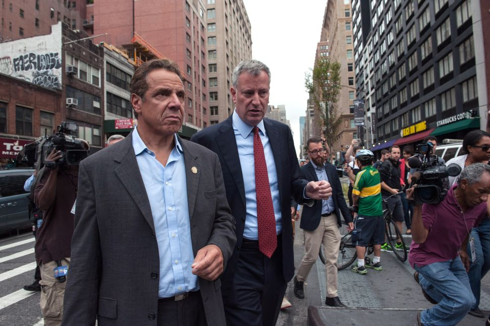 Wave of Hate Crimes Forces Andrew Cuomo and Bill de Blasio to Work Together—Somewhat