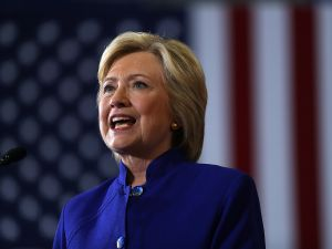 Democratic presidential nominee former Secretary of State Hillary Clinton speaks during a campaign event at Frontline Outreach and Youth Center on September 21, 2016 in Orlando, Florida. Hillary Clinton is campaigning in Florida.