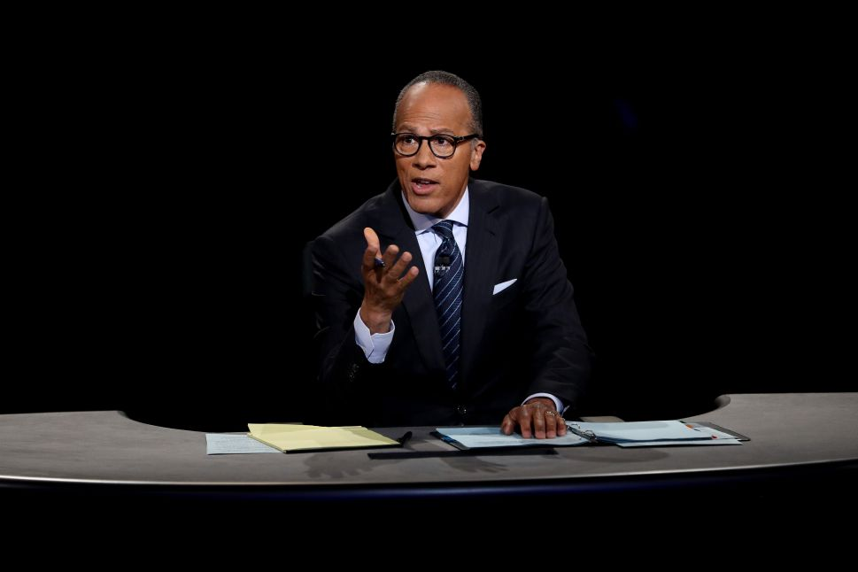 Lester Holt's One-Way Fact-Checking