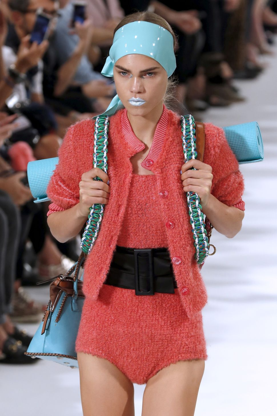 The Most Unexpected Accessory at Paris Fashion Week? A Yoga Mat