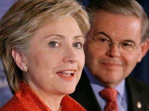 Clinton and Menendez.