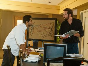 Manish Daya and Lee Pace in Halt and Catch Fire.