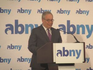 Comptroller Scott Stringer speaks at the Association for a Better New York breakfast in Midtown.