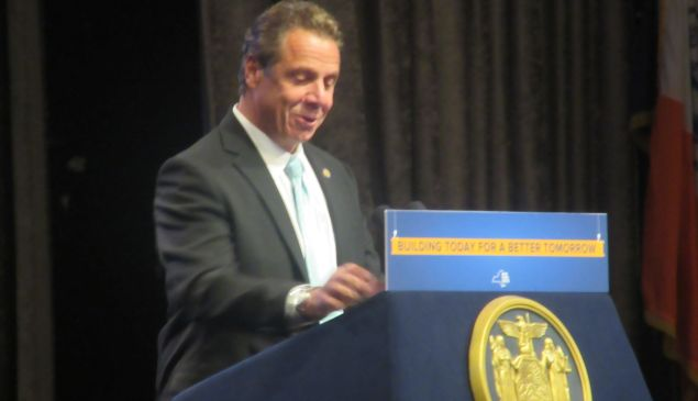 Gov. Andrew Cuomo unveils $1.6 billion plan to revamp new Penn Station-Farley Complex at the Association for a Better New York luncheon.