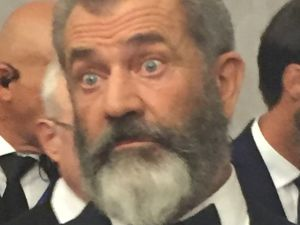 Mel Gibson, normal celebrity, at Venice Film Festival for his film Hacksaw Ridge.