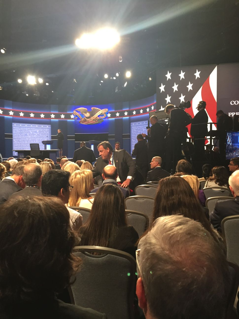 Christie Appears at the Presidential Debate – in Support of Donald Trump