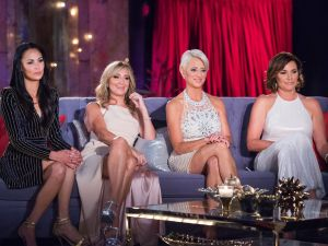 (l-r) Julianne Wainstein, Sonja Morgan, Dorinda Medley and Luann de Lesseps -- (Photo by: Charles Sykes/Bravo)