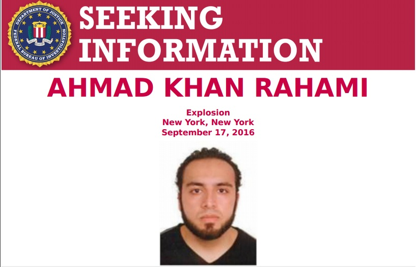 NYPD and FBI Seek Ahmad Khan Rahami in Connection With Chelsea Bombing