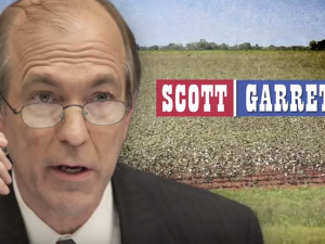 Garrett appears in a new ad created by the House Majority PAC