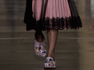 Crocs on the Christopher Kane runway