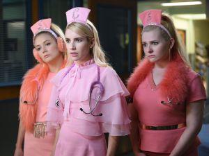 (L-R) Billie Lourd, Emma Roberts and Abigail Breslin.