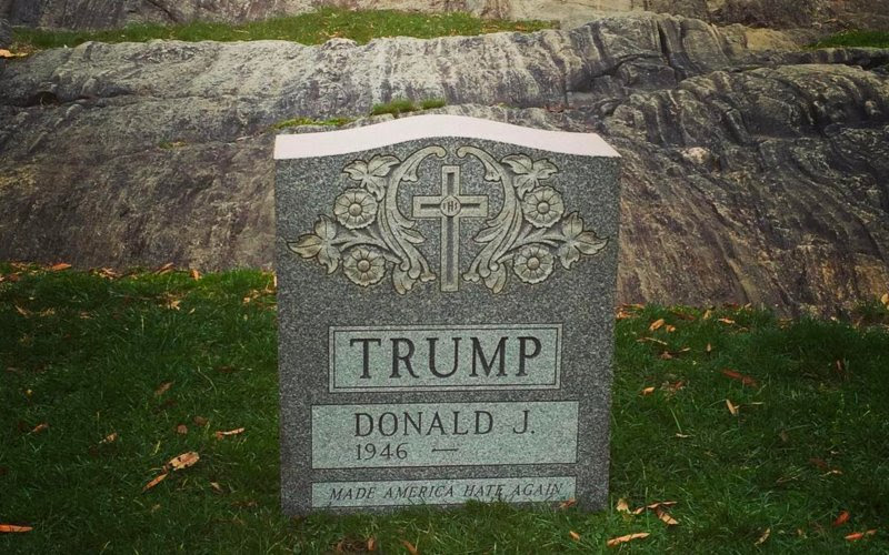 Donald Trump's Tombstone Back on Display, and 6 Other Things to Do