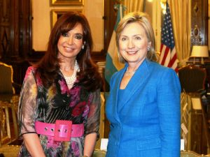 Hillary Clinton with Cristina Fernández de Kirchner, former president of Argentina.