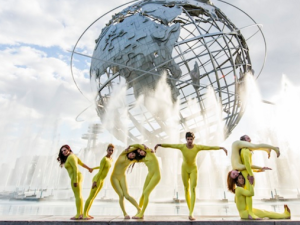 The dance troupe Pilobolus partnered with Who's On The Ballot to get out the vote.