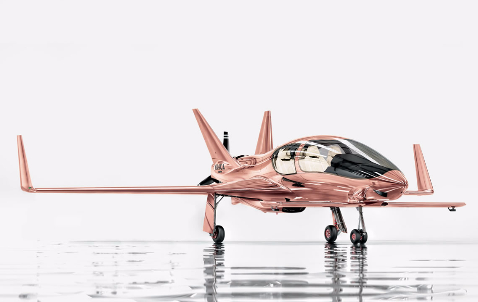 Put a Rose Gold Private Jet on Your Christmas List